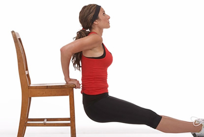Triceps trainen zonder gewichten
