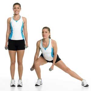 zijwaarts-lunges