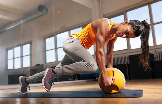 Medicine ball work-out